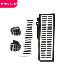 Jameo Auto Stainless Steel Pedal Pads Foot Rest for Skoda Octavia A5 for Volkswagen VW Golf 6 Jetta MK5 Scirocco Tiguan Parts