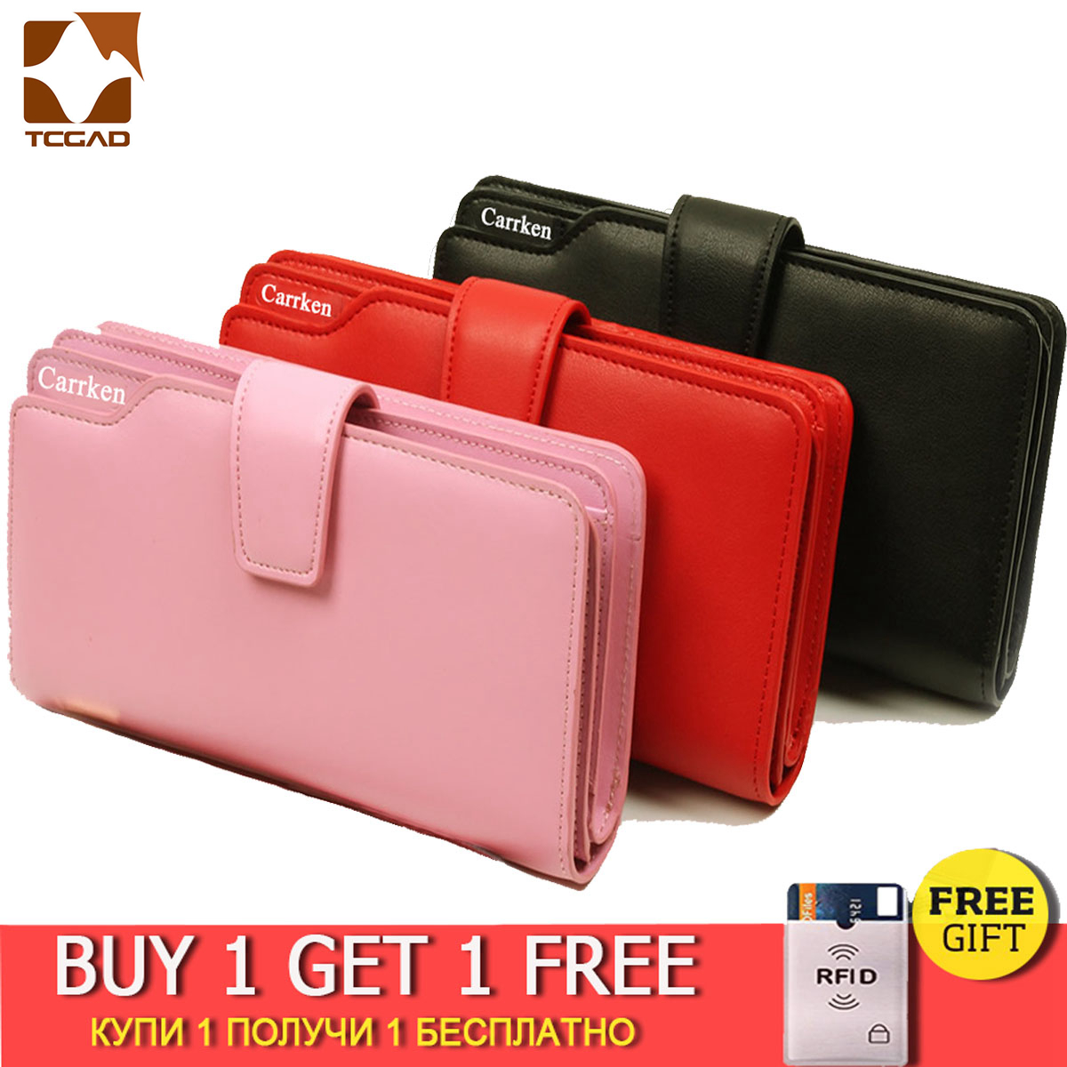 Wallet Women Leather Female Walet For Women Long Portfel Damski Zipper Purse Women's Ladies Phone Money Bag Card Holder Purses