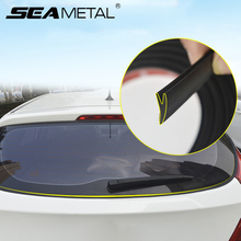 Tira do selo da janela traseira do carro 2m y forma tiras de vedação borracha auto universal para hatchback suv janela selante automotivo bens
