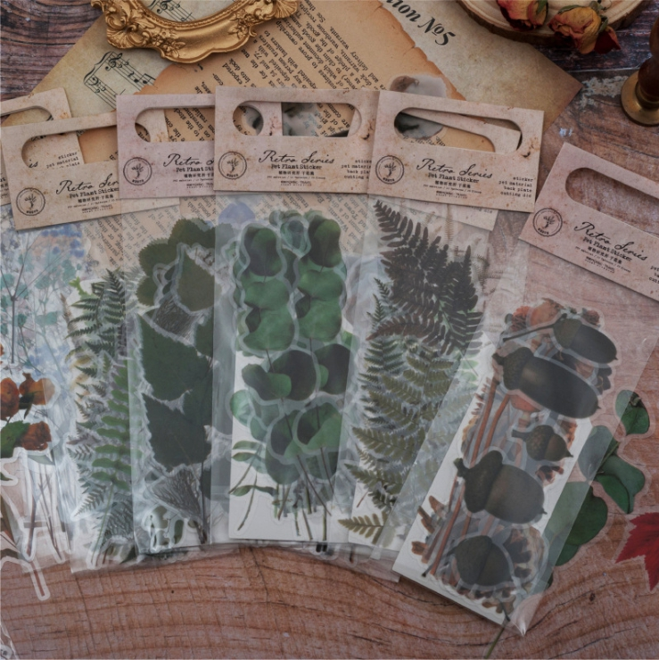 20pcs/pack Vintage Dried Flowers Sticker Decoration Diy Ablum Diary Scrapbooking Label Sticker Kawaii Stationery