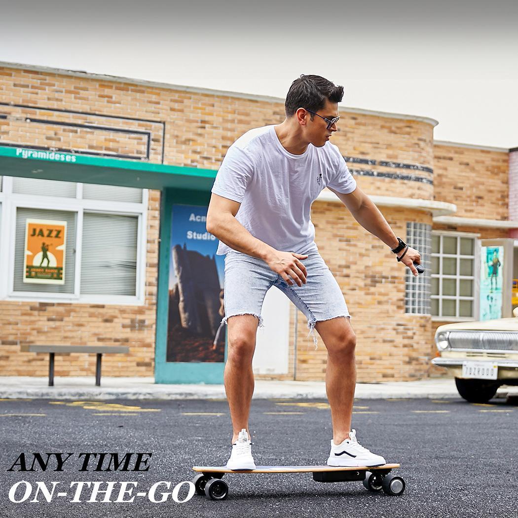 Remote Control Electric Skateboard 12.4 MPH Top Speed 350W 10 Miles Max Range 35.4x9.1x4.9inch 3