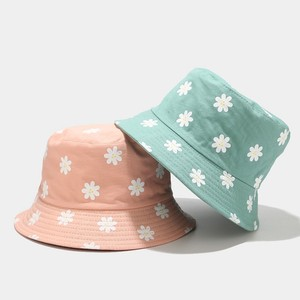 Women Hats Fisherman Caps Literary Chrysanthemum Pot Hat Outdoor Double-sided Sunscreen Hat Protection Caps Outdoors Girls Hats