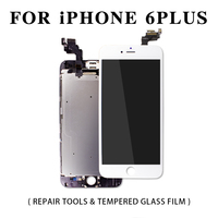 Full Assembly LCD Display for iPhone 5s 6s 6 Plus Touch Screen Digitizer Replacement with Front Camera Complete LCD White&Black