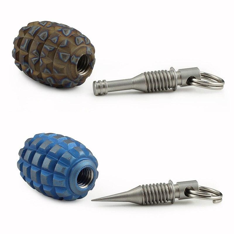 Titanium Alloy Knife Lanyard Bead Paracord Pendant With Mini Toothpick Or Earpick Outdoor Camping EDC Multipurpose Tool