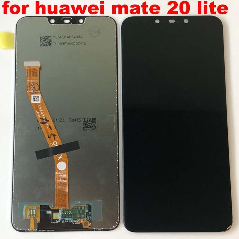 Image 5 - Оригинальное новое поступление 2018 6,3 дюйма для Huawei Mate 20  lite mate 20 lite ЖК дисплей дигитайзер сенсорный экран Запчасти для  сборки лучшее качествоЖК-экраны мобильных телефонов   -