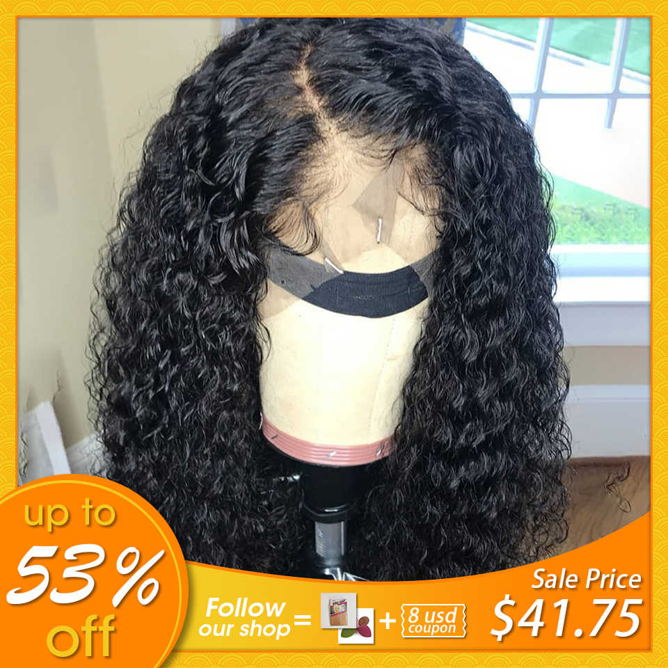 Lace Front Human Hair Wigs Curly Brazilian Remy Hair Wigs Pre Plucked With Natural Baby Hair Beauty Texture Bleached Knots JKO
