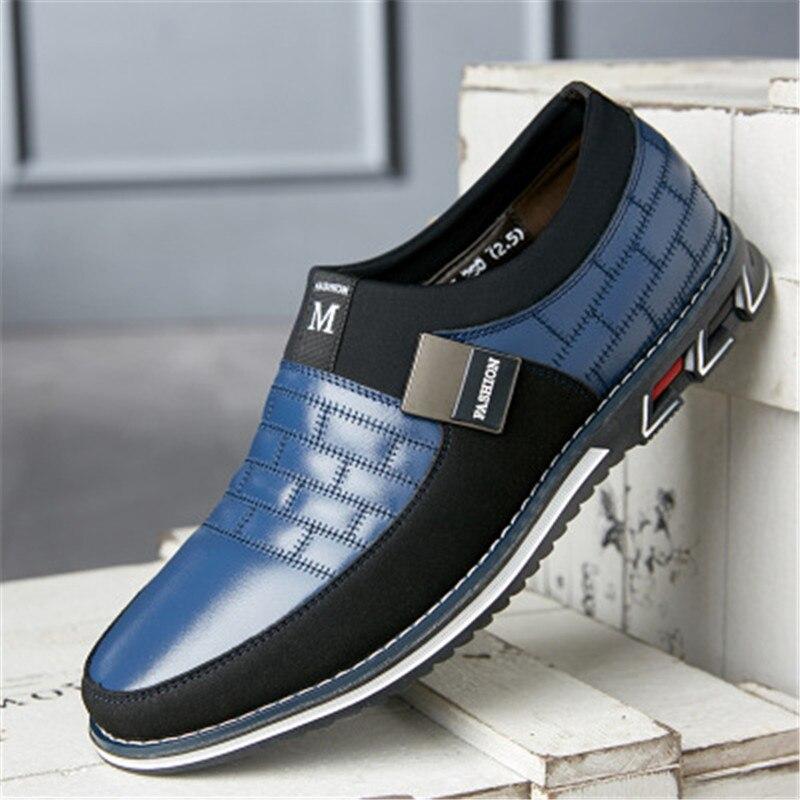 2020 New Men Oxfords Leather sneaker