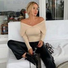 Женский свитер ardm sex вязаный с открытыми плечами винтажный