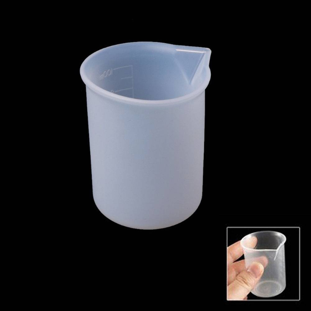 100ml Silicone Resin Glue Graduated Measuring Cup  Jug Beaker Kitchen Lab Tool Chemistry Learning Stationery Laboratory Supplies