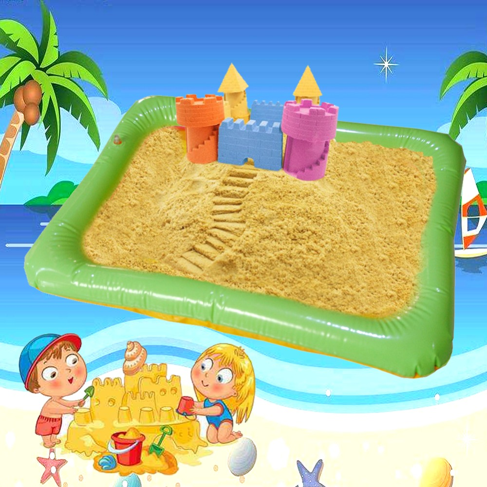 Large Inflatable Sandbox Toys Magic Sand Holder Waterproof Baby Indoor Dynamic Clay Mat ToysCastle Beach Kids Baby Play Toys Kid