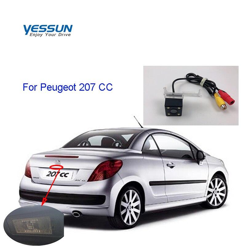 Камера заднего вида Yessun HD, светодиодный, с ночным видением, угол обзора 170 градусов, для Peugeot 207 CC