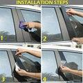 6 шт. автомобиля столб посты двери Накладка черный пластик полосы наклейки Комплект для Mazda