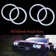 цена на Car-Styling 4x106mm Headlight Halo Cotton Light Car Smd Led Anger Eyes For BMW E46 Coupe 2D Cabrio Projector Auto Lighting