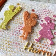 Girl Boy School Bag Stencil Metal Cutting Dies For Scrapbooking Album Craft Embossing  Set Child Card Making New 2019