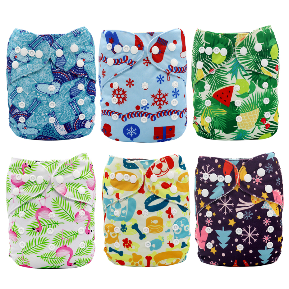 Inserts Adjustable One Size Baby Cloth Pocket Nappies Washable Cloth Diapers