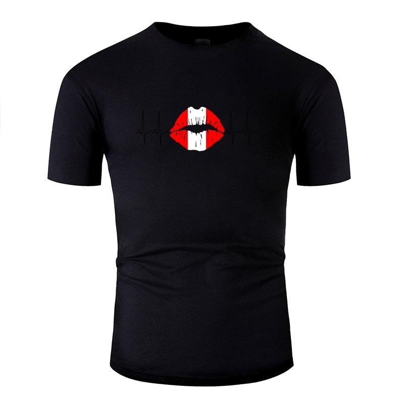 >Print Peru 2018 <font><b>Ecg</b></font> <font><b>Kiss</b></font> <font><b>Soccer</b></font> World Champions Gift Tshirt Men Outfit Men's Tshirts Crew Neck Streetwear