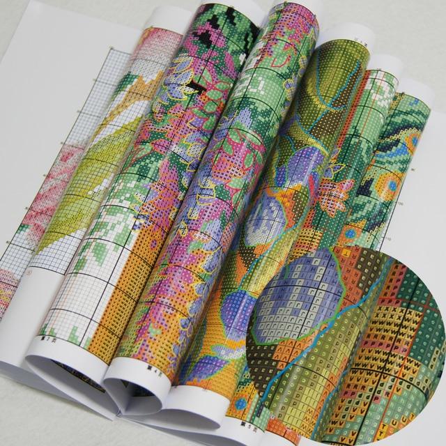 Joy Sunday the Iris Counted DIY Handmade DMC 14ct and 11ct Cross stitch kit and Precise Printed Embroidery set Needlework