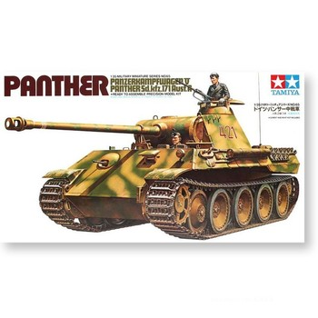 цена на Tamiya 35065 1/35 German Panzerkampfwagen V Panther Ausf.A Medium Tank Military Display Toy Plastic Assembly Building Model Kit
