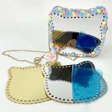 New Cat Mirror Panel Acrylic Fresh Woven Material Bag Accessories Acrylic DIY Crochet Hand-Woven Weave Bag Parts Christmas Gift