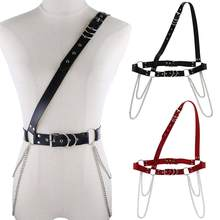 Sexy Punk Rock Tassel Waist Chains Garters Belts Harajuku Body Jewelry Leather Harness Body Bondage Corset Shoulder Necklaces(China)