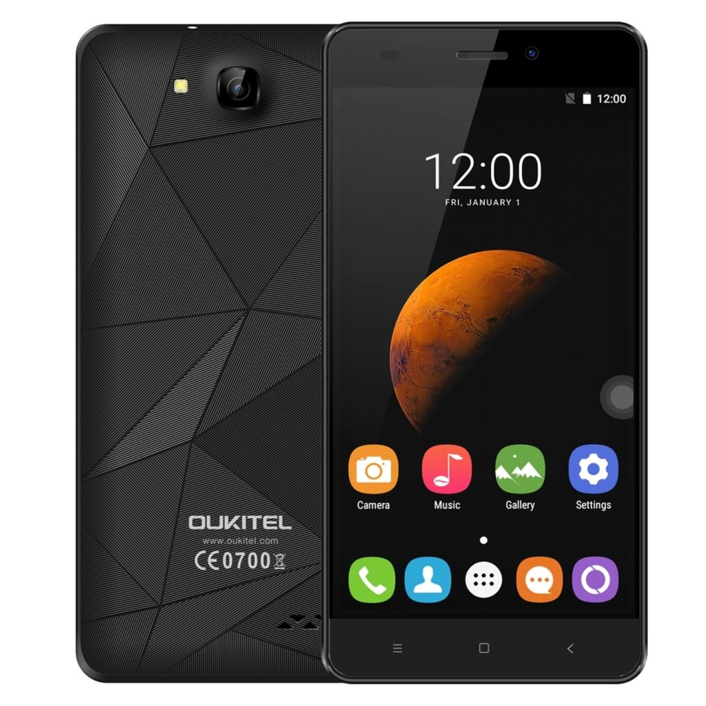 Original Oukitel C3 Mobile Phone 1GB RAM 8GB ROM 5.0 Inch 1280x720 Android 6.0 MT6580A Quad Core 1.3GHz 5.0MP 2000Mah SmartPhone