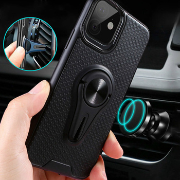 Car Holder Phone Case For iPhone 11 Pro X XS Max Case Magnetic Duty Silicone Cover For iPhone 11 6 6S 7 8 Plus Capa Fundas Coque image