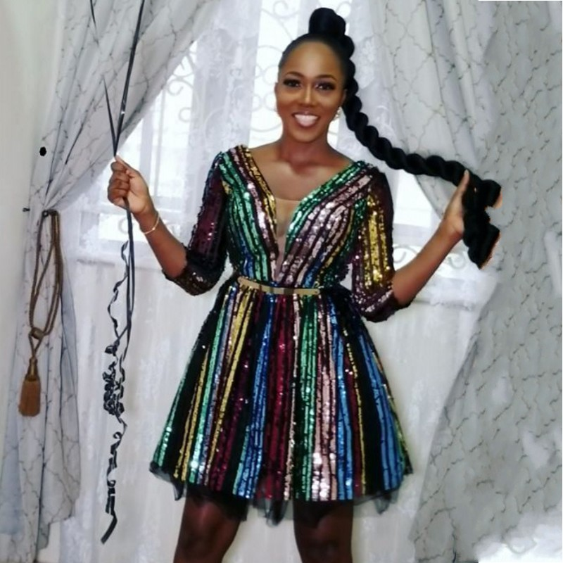 African Dresses For Women Sequined African Clothes Africa Dress Dashiki Ladies Clothing Ankara Africa Dress