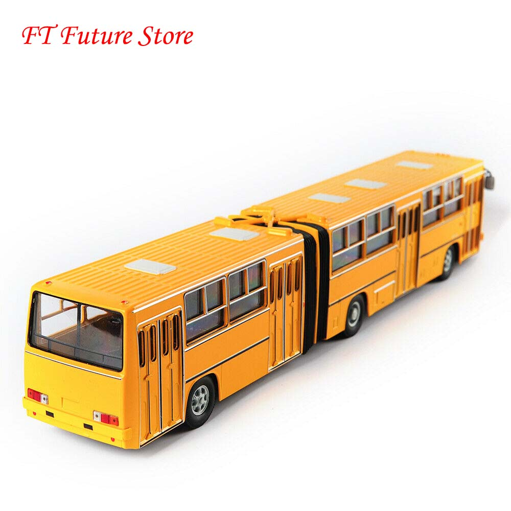 In Stock 1/43 Scale Soviet Russia Yellow Double-decker Bus Model IKarus-280 Diecast Toys Model For Children Kids Gifts