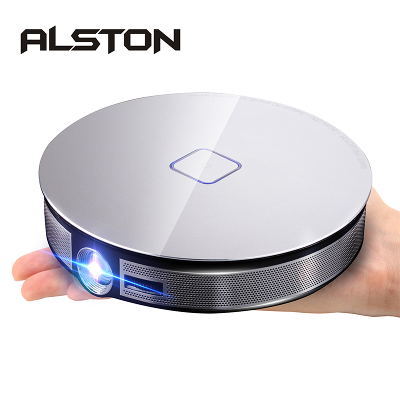 ALSTON D8S Portable DLP MINI Projector 12000mAh Battery 1280x720P Android WIFI HDMI Support 1080P 4K image