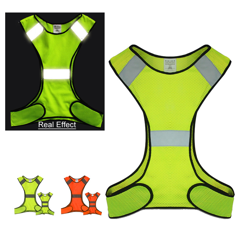 High Quality Reflective Safety Vest Adult/Kids Work Safety Clothes For Night Running Riding Outdoor Sports Safety Average Size
