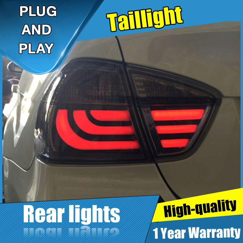 4PCS Car Styling for BMW 3 series e90 Taillights 05-08 for e90 318i 320 325 LED Tail Lamp+Turn Signal+Brake+Reverse LED light image