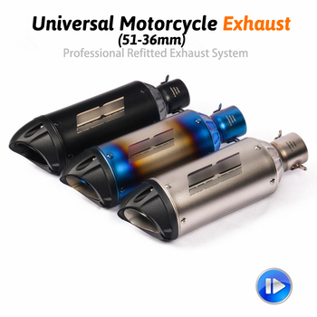 Motocicleta GP tubo de Escape modificado Universal motocicleta 51mm silenciador láser para Honda Ninjia 250 ATV PCX155 NVX155 R25 r6
