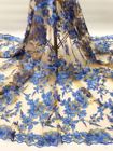 Blue African Lace Fa...