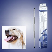 Pet Dog Toothbrush Stainless Steel Double Head Tooth Cleaning Tool Brush for Cat Bad Breath Tartar Teeth Care 1 pc