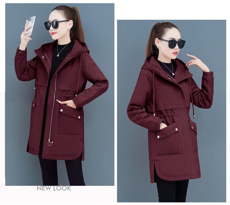Hf2f532b362714ad6aeff48791f577578T NEW2021 Women Parkas Fashion Coat Elegant Winter Mid Long Cotton Jacket Plus velvet thickening Hooded Collar Female Snow Outwear