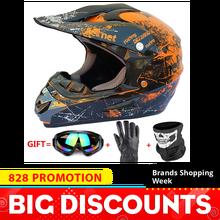 Мотоциклетный шлем полное лицо Casco Moto мотокросс шлем внедорожный шлем ATV Dirt Bike горные MTB DH Capacete Moto очки