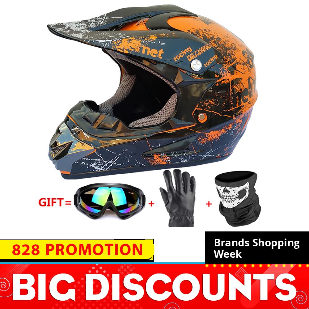 Motorcycle Helmet Full Face Casco Moto Motocross Helmet Off Road Helmet ATV Dirt Bike Downhill MTB DH Capacete Moto Glasses