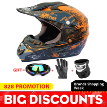 Motorcycle Helmet Full Face Casco Moto Motocross Helmet Off Road Helmet ATV Dirt Bike Downhill MTB DH Capacete Moto Glasses