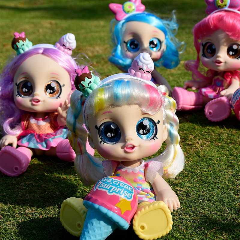 2021 New Product Kindi Toys kids 14 inch Doll Ice Cream Blind Box Surprise Toy Can Sing Cute doll girl birthday gift