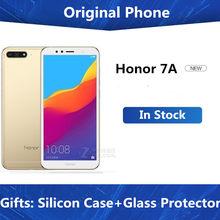 Honra 7a 3gb 32gb 4g lte mobilephone face id desbloquear 5.7 polegada tela de visão completa android 8.0 13mp câmera 3000mah bateria