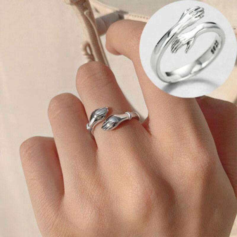 2 шт. романтическое кольцо для обнимания рук и любви для влюбленных креативное Открытие для вечной любви регулируемый палец для женщин и муж...