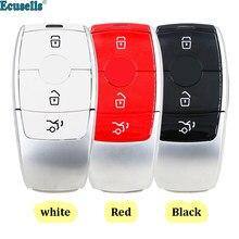 3 botão inteligente prox remoto caso chave escudo para mercedes para benz c200l e300l s320 s350 s450l s500l amg glc vermelho/preto/branco