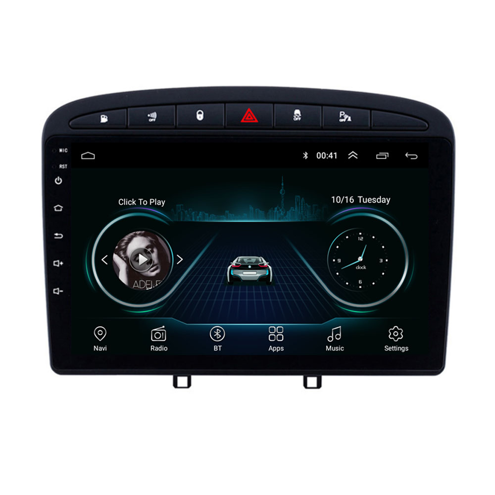 4G LTE <font><b>Android</b></font> 8.1 For Peugeot 408 for Peugeot 308 308SW Multimedia Stereo Car DVD Player Navigation GPS Radio
