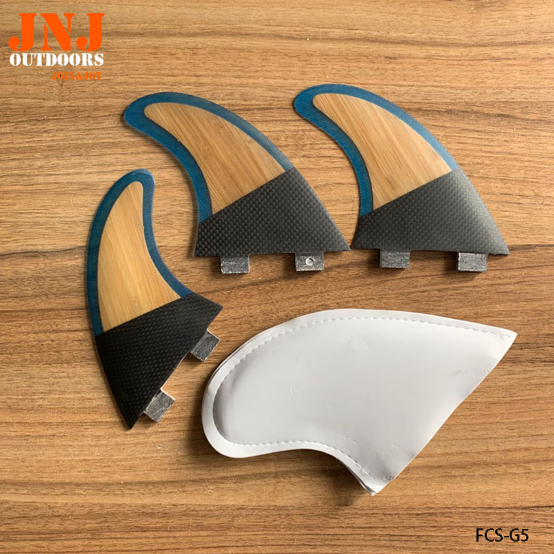 New Style Carbon Bamboo Fcs Surfboard Fin Thruster