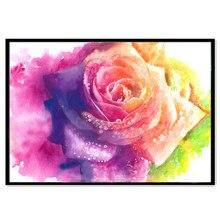 Pintura de diamante 5D paisajismo DIY flor rosa de color bordado de diamantes hecho a mano de punto de cruz kit de Navidad o