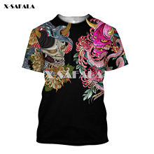 Samurai Mask Tattoo Art Armor Men 3D Full Print T-shirts Summer Fashion Short Sleeve Tee Harajuku Punk Style Women/Unisex-5