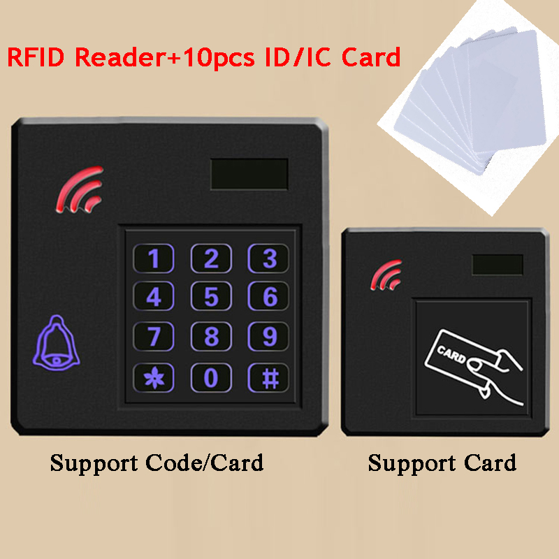 External Gate Opener RFID Lock Access Control Kit 125KHz/13.56MHz ID/IC Reader Code/keypad/Doorbell WG34/26 Output Door Lock