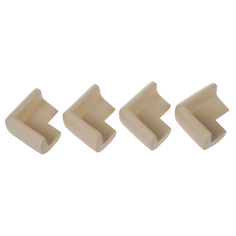 4pcs Child Baby Safety Desk Table Edge Cover Guard Corner Protector Cushion White