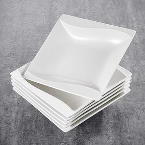 Image 5 - MALACASA Carina, assiettes à dîner en céramique, cuisine profonde, 6 pièces, assiettes à soupe, assiettes à fruits pour la salade, 6 pièces, 8 pouces, céramique, crème