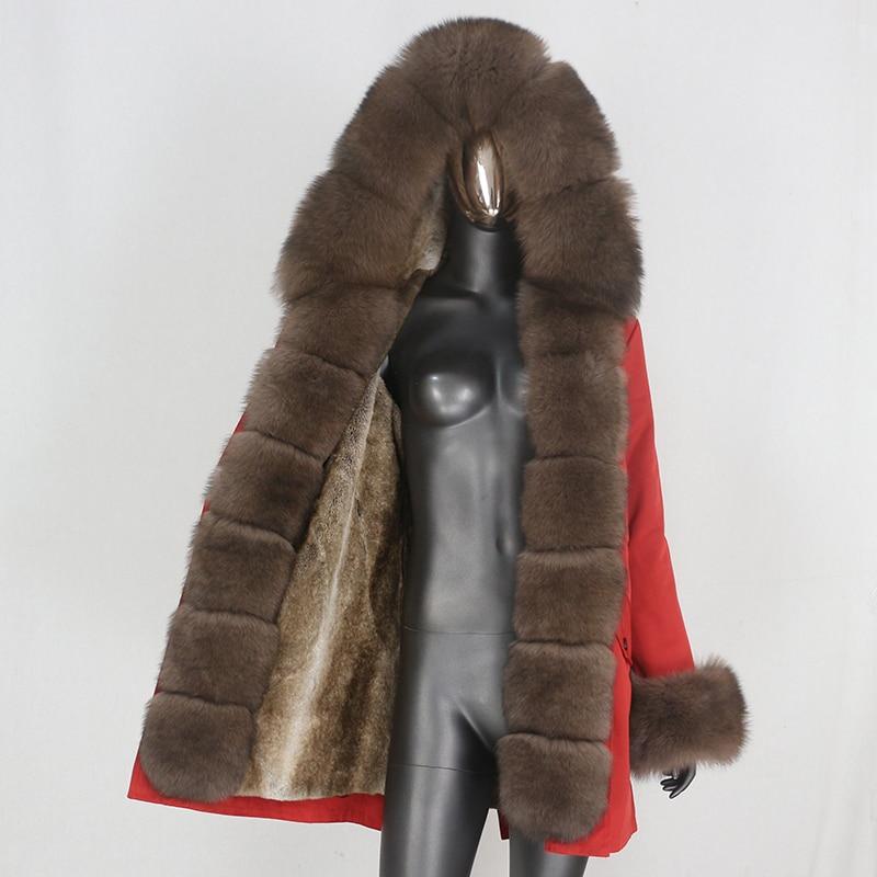 Hf2f64acaa7c74dc48f759da01a60c342q CXFS 2021 New Long Waterproof Parka Winter Jacket Women Real Fur Coat Natural Raccoon Fur Hood Thick Warm Streetwear Removable